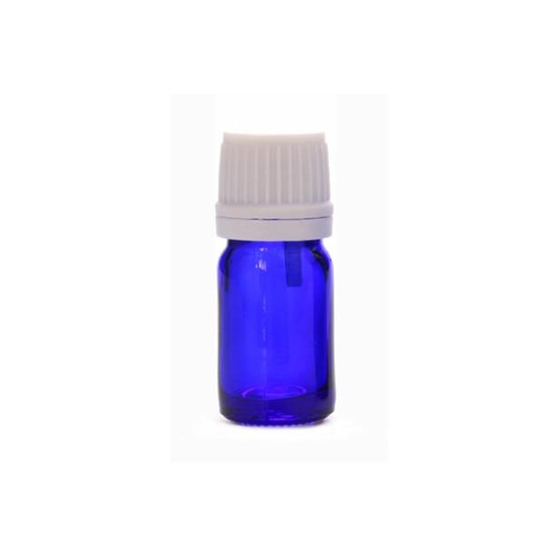 Botella de vidrio azul cobalto de 5 ml, botella de aceite esencial de mini vidrio con tapas de plástico, envío gratis wen6968