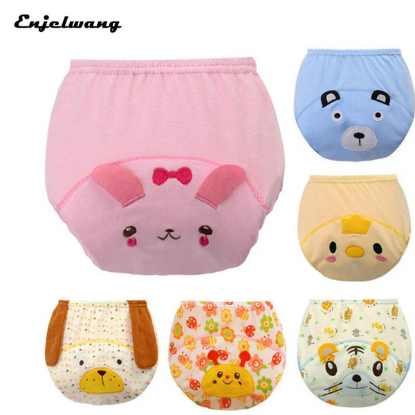Cute 3D Animal Waterproof Reusable Potty Training Pants Cloth Nappy Infant Cowards Shorts Briefs Underwear (3Pcs)