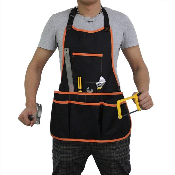 Oxford cloth Work Apron with 16 Tool Pockets Cross-Back Straps djustable Waterproof & Protective