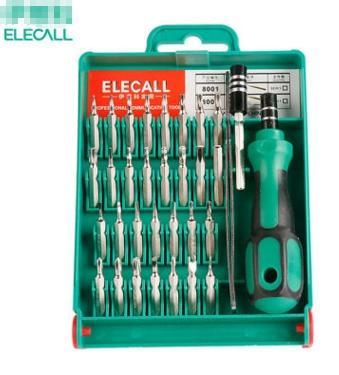 33 en 1 conjunto de destornilladores intercambiables Torx pinzas herramienta de reparación de reparación del kit de caja para Notebook PC portátil Cameral reloj teléfono