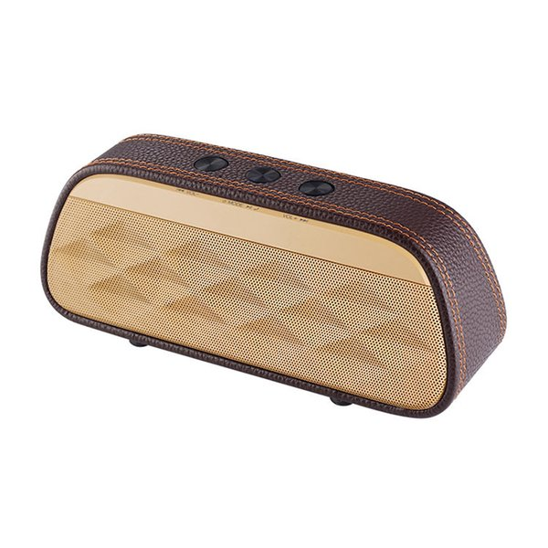 Bluetooth speaker high-end leather Home Theater portable wireless Speaker Super Bass Stereo Portable Car Speaker 1pc free shipping