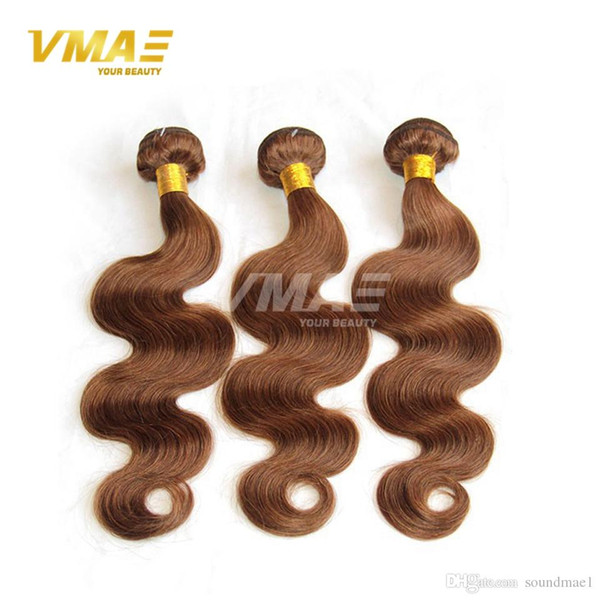 Brazilian Body Wave Virgin Human VMAE Hair extensions Dark/Middle/Light Brown Hair Grade Brazilian Human Hair Wavy Weave 3 Bundles Deals
