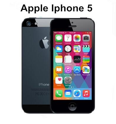 APPLE iPhone 5 Cell Phone iOS OS Dual core 1G RAM 16GB 32GB 64GB ROM 4.0 inch 8MP Camera WIFI GPS 3G refurbished Phone