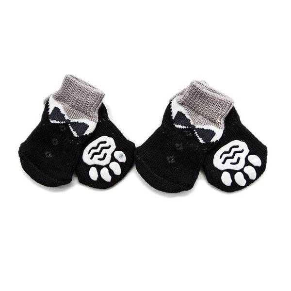 Anti-Slip Dog Socks Traction Control for Indoor Wear Dog Boots Shoes Socks Paw Protection Multicolor for Choose 4pcs set
