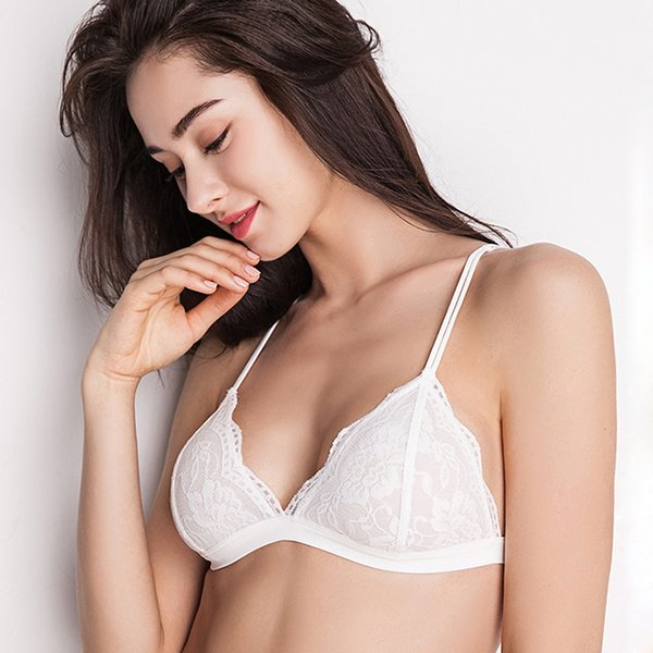 298791b60e9 2018 NEW Sexy Underwear Lace Bra Plus Size XL L Luxury Wire Free Women  Lingerie Seamless