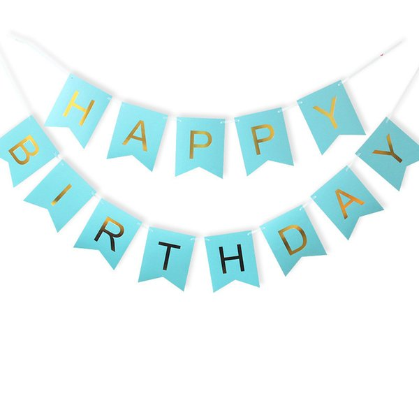 1Set Paper Happy Birthday Banner Party Decorations Kids Garland Children Baby Boy Girl Child Bunting Flag Adult Favors Supplies