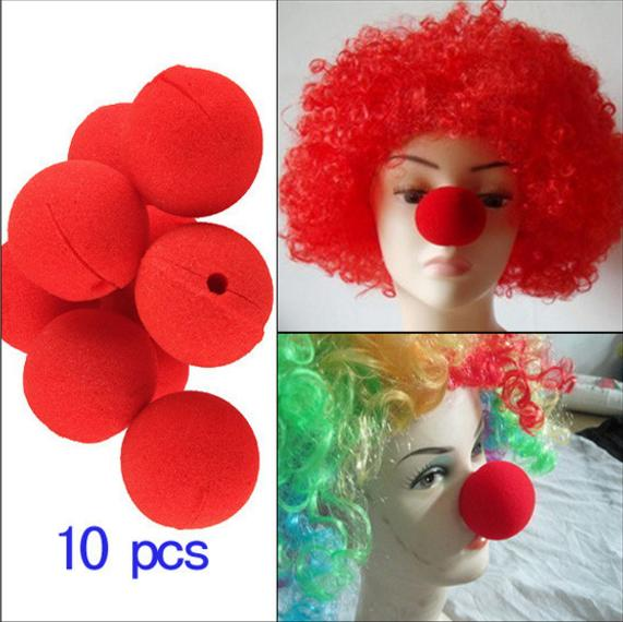 10Pcs/lot Adorable Red Ball Sponge Clown Nose for Wedding Party Decoration Christmas Halloween Costume Magic Dress Accessories