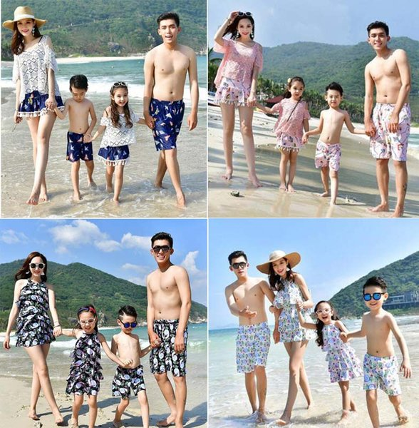 1645eb26a3 Family Beach Bikini Sets Holiday Swimsuits Mother Daughter Father Son  Family Matching Floral Watermelon Print Bikinis