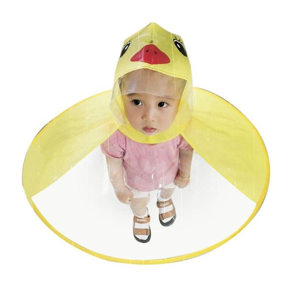 Creative Poncho Children's Raincoat UFO Rain Coat Cover Funny Baby Outdoor Play Supplies Adjustable Soft Rubber