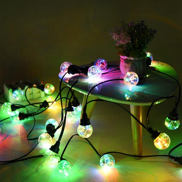 30FT 9.31M Led Globe String Light USB Power Waterproof Plastic Globe Light String Strip Christmas Light Garland Copper Wire Patio String