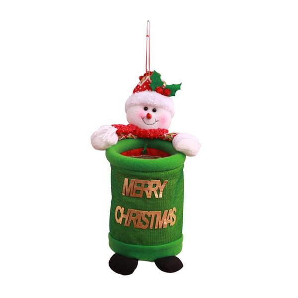 1 pc Christmas Trash Cans Hanging Cartoon Creative Cute Xmas Tree Decor Storage Bags Gift for Mall Home Festival