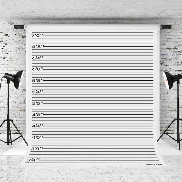 Dream 5x7ft Police lineup Photography Backdrops Black line Photo Background for Photographer Children Prop Shoot Studio