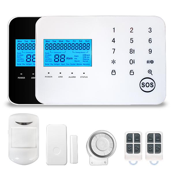Home DIY LCD Burglar Security Anti-Theft GSM Alarm System Home Security GSM SMS home security alarm system with Touch keypad