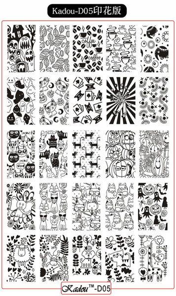 6 Styles Nail DIY Art Decor Manicure Stamping Printing Plate Image Stamps Transfer CArtoon 14.5cm by 9.5cm stamping plate
