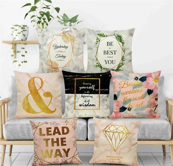 Federa di pietra di marmo struttura caso 7 stili federa di fibra di lino copertura del cuscino del sofà del partito di casa Nuovo arrivel