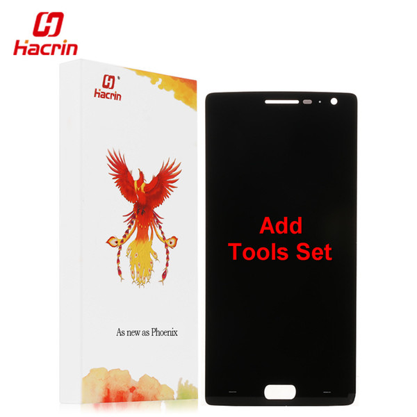 hacrin Oneplus Two LCD Display + Touch Screen 100% Good Digitizer Assembly Replacement Accessories For One Plus 2 Mobile Phone