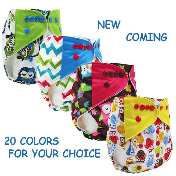 top popular Wholesale-new coming one size Washable Baby Cloth Diaper Cover color tab Waterproof Baby Diapers Reusable Cloth Nappy Suit 0-2years 3-15kg 2020