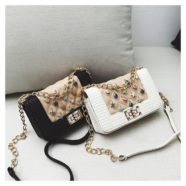 2018 new wave classic wild small fragrance rhombic chain bag shoulder bag Messenger bag handbag