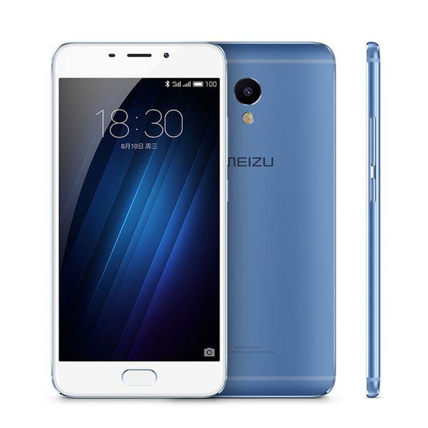 Unlocked Original Meizu Meilan E Mobile Phone MTK Helio P10 Octa Core 3GB RAM 32GB ROM Andorid 5.5inch 2.5D Glass 13.0MP 4G LTE Cell Phone