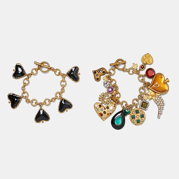 Vedawas Crystal Statement Bracelet femme Jewelry Boho Heart Accessories Bracelets for Women Bijoux Accessories Wholesale XG2079
