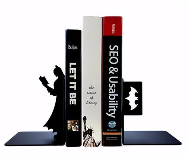 Creative Bookends Book Simple Batman Plate desktop office telescopic bookend frame simple personality TV home decorations
