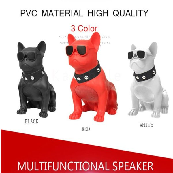 Cool Bluetooth Speaker Mini Bulldog Speaker Subwoofer Multifunction Computer Computer Speaker TF MP3 Player Hot Dog Portable Overall