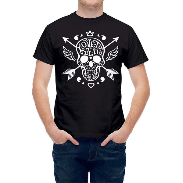 T shirt Cross Arrows Skull T245ZZ Cool Casual pride t shirt men Unisex New Fashion tshirt Loose Size top ajax