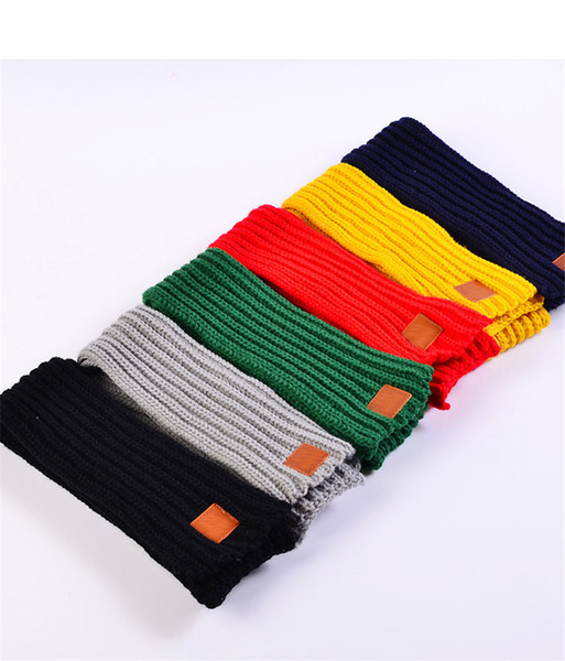 best selling 2018 Hot Fashion Lovely Autumn Winter Boys Girls Baby Kid Solid Scarf Warm Knitted Scarves Women Scarf TO926