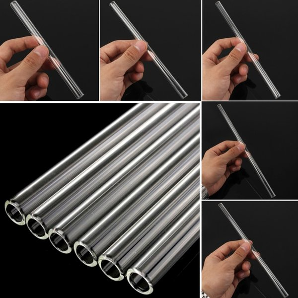 New Clear Glass 10mm Reusable Wedding Birthday Party Drinking Straws Thick Straws L29K Bar equipment