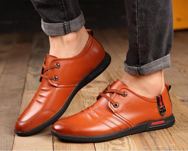 2019 New Style Leather Concise Men Business Pointy Black Shoe Breathable Formal Wedding Basic Shoe Fashion Mens Dress Shoe S648