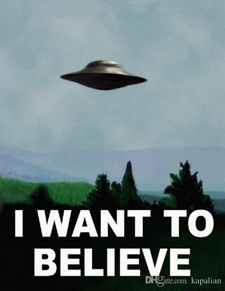 Free Shipping X Files TV Series Poster I Want To Believe High Quality Art Posters Print Photo paper 16 24 36 47 inches