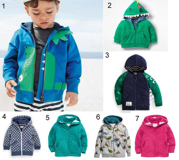 top popular Ins Kid Child clothing Jacket Coat spring fall Warm long sleeve animals design hooded zipper Coat 2021
