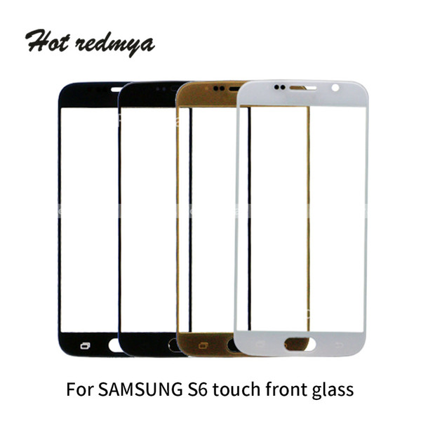 Para Samsung Galaxy S6 G920 G920F SM-G920 G9200 Pantalla táctil frontal Lente de vidrio Panel de pantalla Digitalizador Reemplazar partes del sensor de vidrio