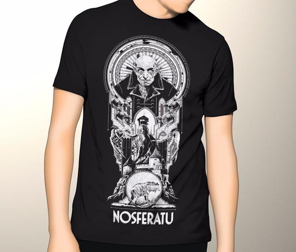 NEUE T-shirt Nosferatu Klassische Horrorfilm Erwachsene T-shirt Graphic Oansatz Mode Lässig Hohe Qualität Drucken Sommer Herrenmode Tee