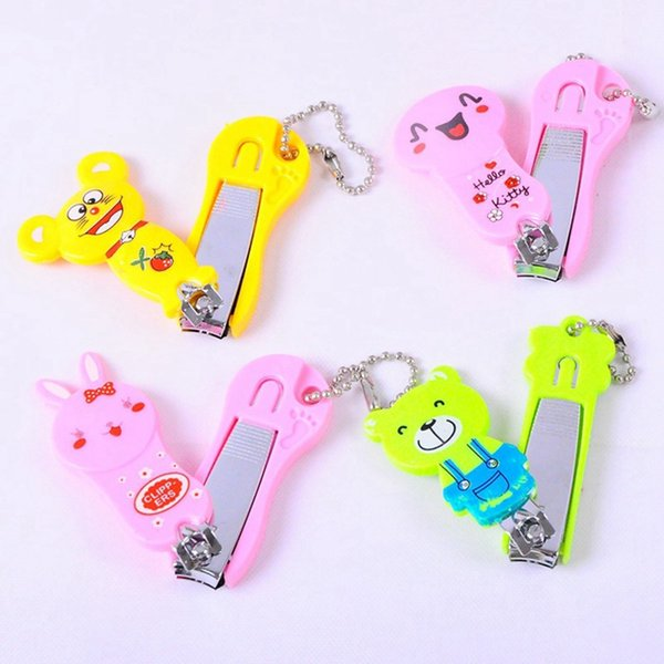 Baby Nail Scissors New Cartoon Boys And Girls Nail Cute Infant Kids Finger Trimmer Scissors Care With Hanging Hot Sale
