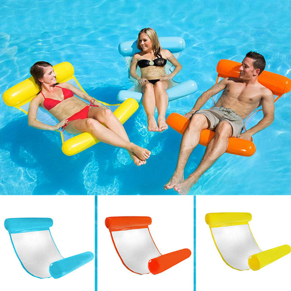 Silla flotante inflable de la cama del flotador del salón de la piscina de la playa de la playa de la hamaca del agua flotante del PVC del verano para los adultos de los niños