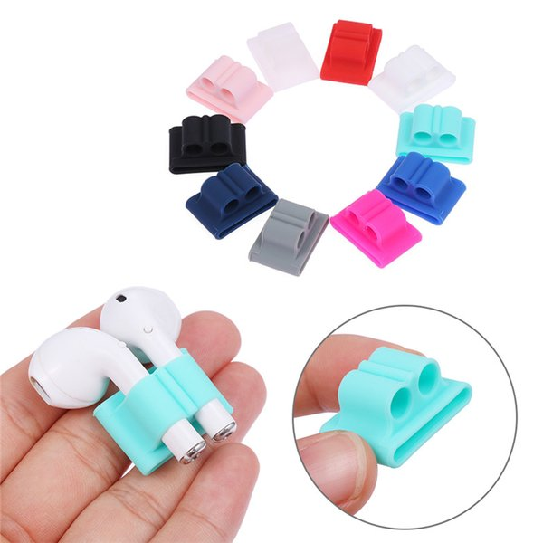 Portable Anti-lost Holder For Airpods Wireless Headset Silicone Holder EarPhone Case Accessory For Airpods Work With Watch Band