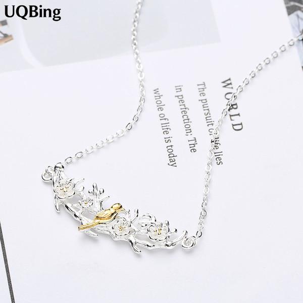 Free Shipping 925 Sterling Silver Bird Necklaces Pendants Women Necklaces&Pendants Jewelry Collar Colar de Plata