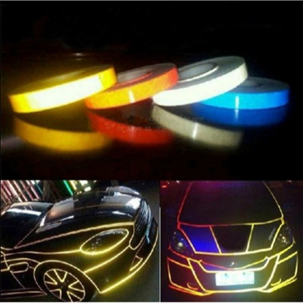 High Quality Motorcycle Car Reflective Decal for BMW ford focus mini cooper Exterior Accessories Security identity Body Stick 5 m