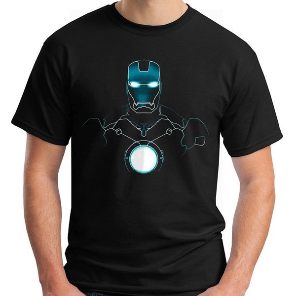 New Best Iron Man Black Men's T-Shirt Size S-5XL T Shirt Discount 100 % Cotton T Shirt For Men'S