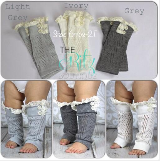 Las niñas INS ahuecan los volantes de encaje Leggings Calentadores para las piernas de invierno Botón Crochet Knit Boot Calcetines Toppers Puños Diseñador para mujer Leggings Calcetines