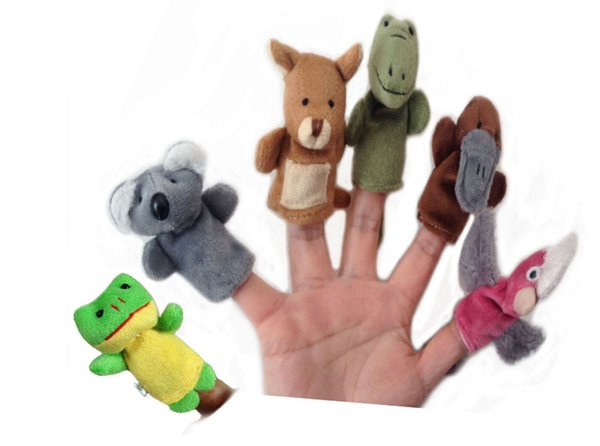 best selling Hot New Animal Finger Puppets Plush Cloth Doll Baby Educational Hand Kids Toy Finger puppet toys for children finger toy