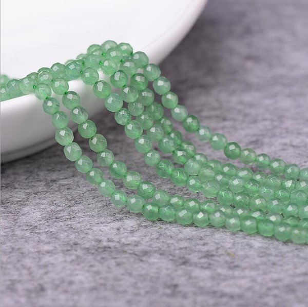 Natural Crystal Dongling Jade Face Scattered Bead Semi-finished Product Dongling Jade Bead DIY Ornament Factory Outlet