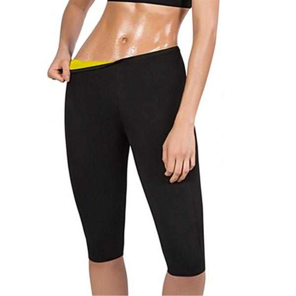 Pantalones para adelgazar de las mujeres Termo Neopreno sudor Sauna Body Shapers Gimnasio Control de estiramiento Bragas Cintura Grasa quema pantalones delgados