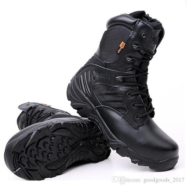 Großhandel Delta Hohe Qualität Ultra Light Atmungsaktive Taktische Stiefel Herren Polizei Armee Kampfstiefel US Army Schuhe Wüste Schwarz Größe 39