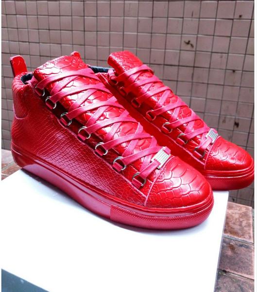 Arena Sneakers Uomo in pelle di montone di ottima qualità in vera pelle top marca arena scarpe moda kanye west sneakers alte 198604