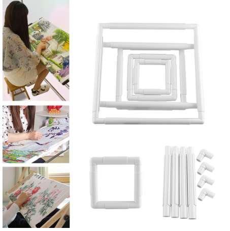 1 Unids Pratical Handhold Square Forma Bordado Marco de Plástico Aro de punto de Cruz Herramientas de Artesanía DIY Venta Caliente