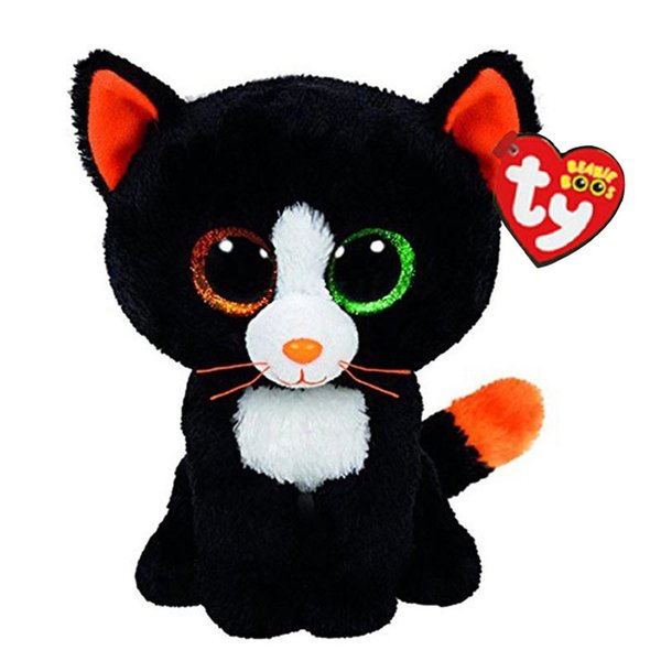 """Ty Beanie Boos Plush Animal Doll Frights Black Cat Soft Stuffed Toys With Tag 6"""" 15cm"""
