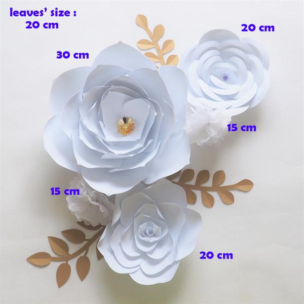 Compre Flores De Papel Gigante Pano De Fundo Artificial Artesanal De Papel Crepom Flor Folhas Para Festa De Casamento Deco Decoração De Casa De