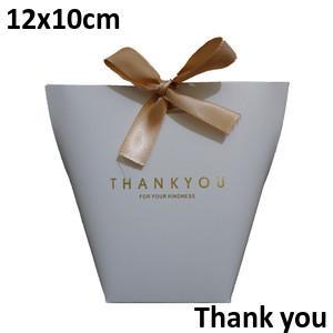 White Thank you 12*10cm